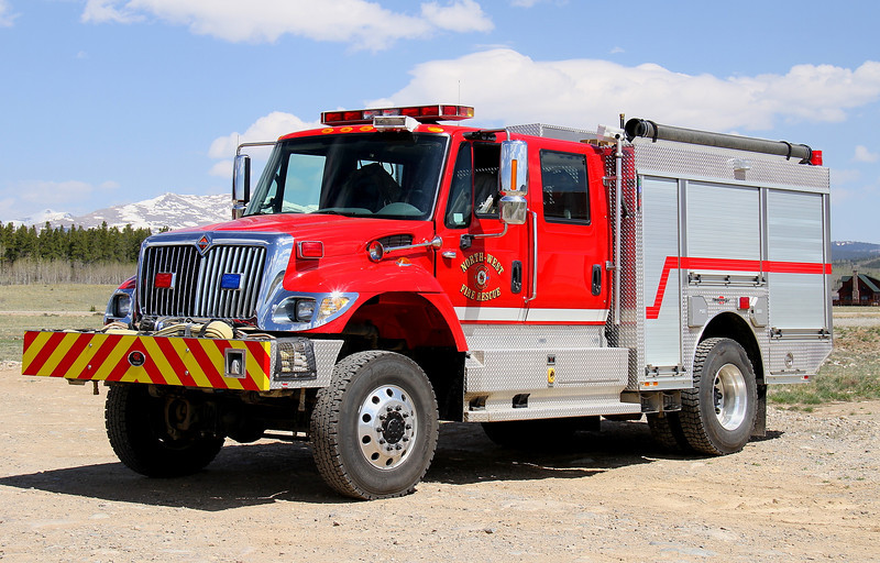 North-West Fire Rescue Engine 42.  2007 International / Rosenbauer Timberwolf 4x4 with a 750 gallon water tank, 30 gallon foam tank & 1,000 gpm pump.