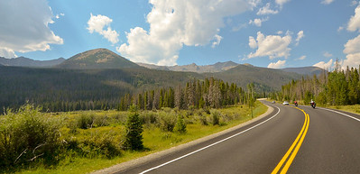 The ride home through Rocky Mountain National Park.