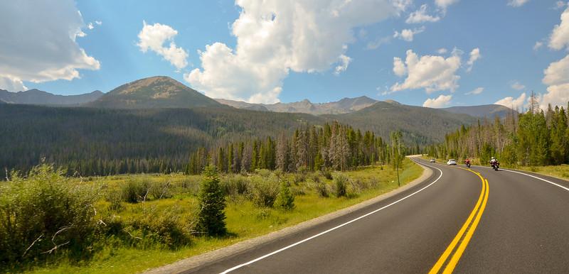 The ride home through Rocky Mountain National Park.