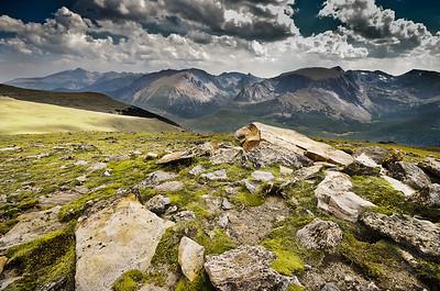Photo from Trail Ridge Road, Rocky Mountain National Park. Colorado.