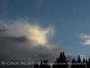 Cloud and crescent moon, Little Molas Lake, CO