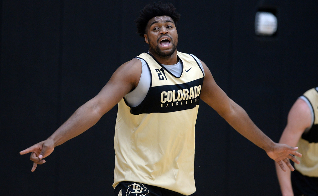 . BOULDER, CO: University of Colorado\'s  Evan Battey during the first practice for the CU men\'s team on October 2, 2018. ((Photo by Cliff Grassmick/Staff Photographer)