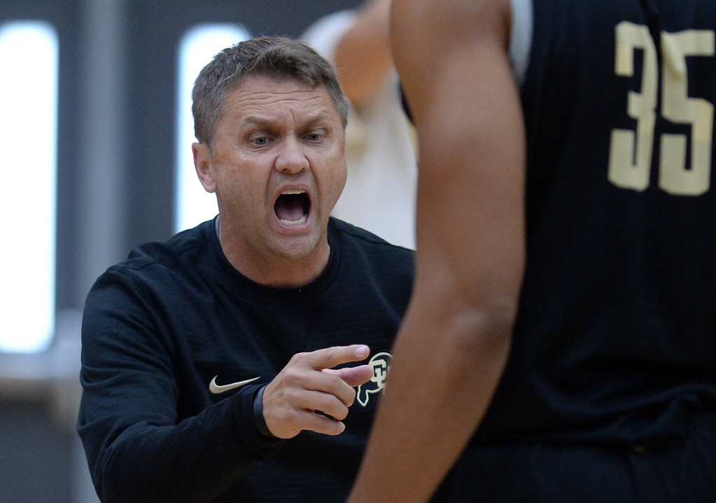 . BOULDER, CO: University of Colorado\'s Mike Rohn  during the first practice for the CU men\'s team on October 2, 2018. ((Photo by Cliff Grassmick/Staff Photographer)