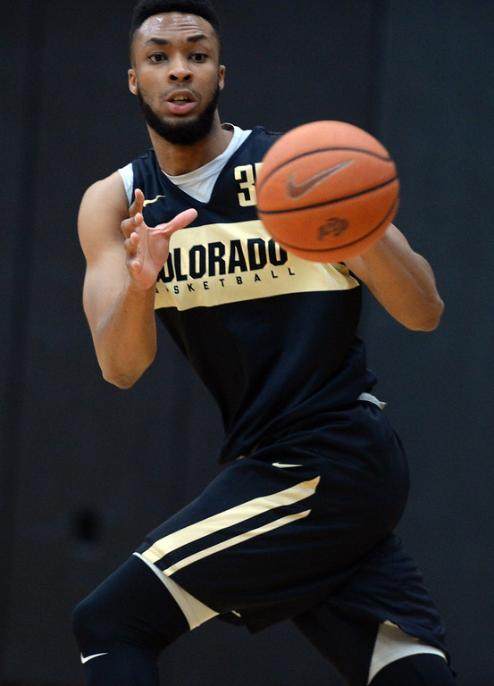 . BOULDER, CO: University of Colorado\'s Dallas Walton  during the first practice for the CU men\'s team on October 2, 2018. ((Photo by Cliff Grassmick/Staff Photographer)