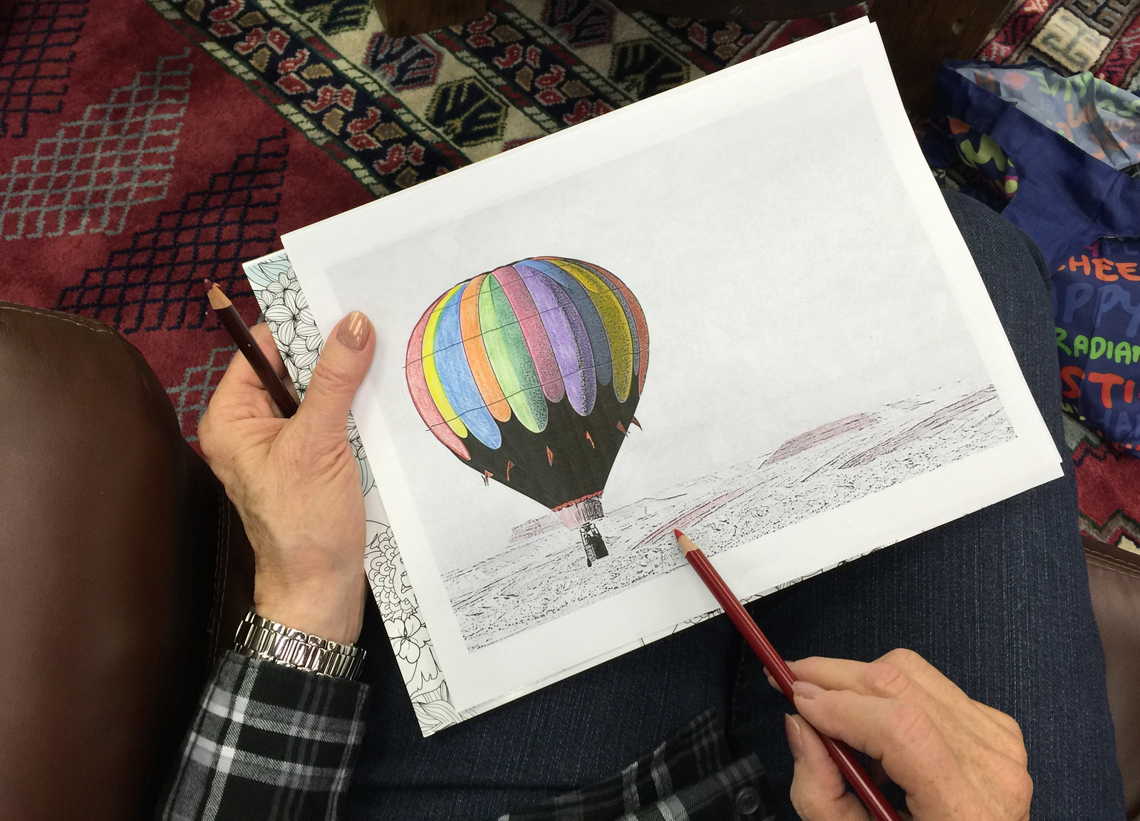 Coloring during travel relieves stress, boredom and promotes relaxation. Here's what to bring.