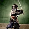 ca. 1860 --- Samurai Brandishing Sword by Felice Beato --- Image by © Historical Picture Archive/CORBIS