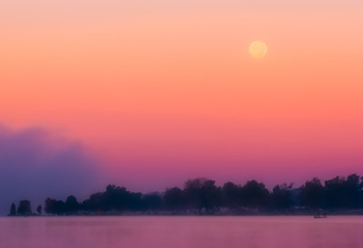 Moonset, Winona Lake