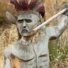 Wood Carved Warrior