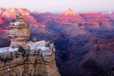 Grand Canyon Snowy Sunset