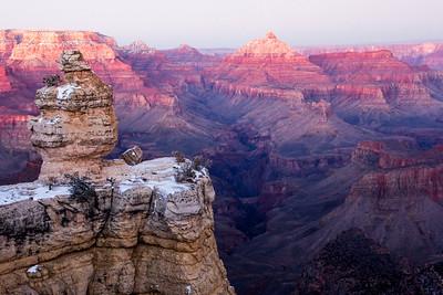Grand Canyon Snowy Sunset
