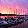 Sunset near Percival Landing in Olympia, WA