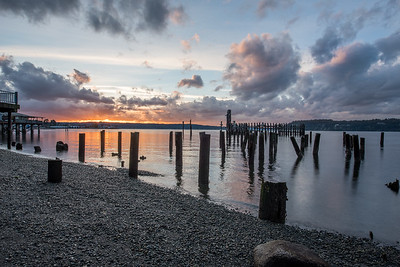 Titlow Beach in Tacoma, WA at sunset