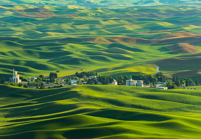 Heidenreich Dairy Farm from Steptoe Butte