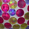 Glass gazing ball detail