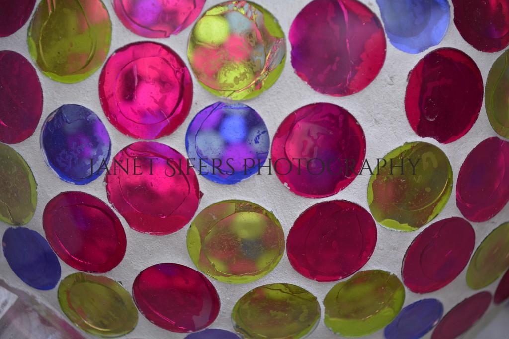 Glass gazing ball detail