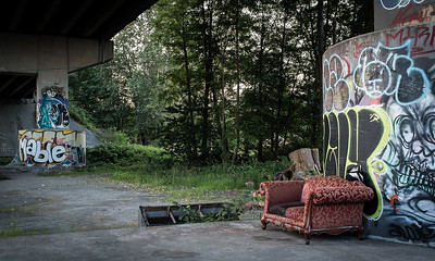 Graffiti and Sofa