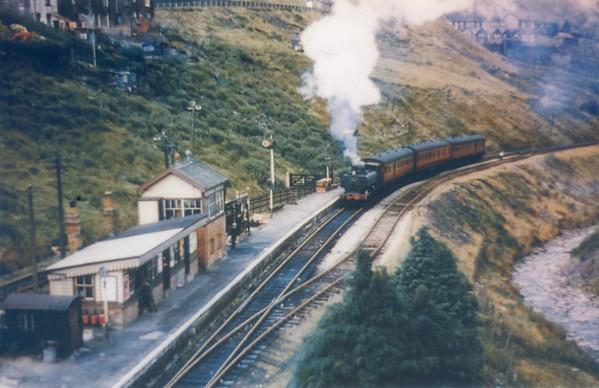8721 arriving at Abergwynfi 3rd August 1959 Collett 5700 class