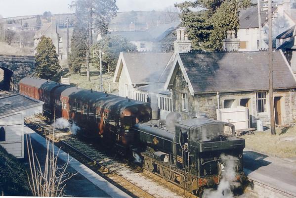3701 Bampton station 24th March 1962 Collett 5700 class