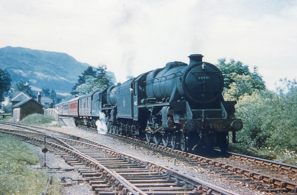 44881 pilots another Black 5 at Crianlarich lower 22nd May 1961