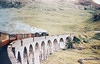 62034+62012 Glenfinnan Viaduct with a mixed freight+passenger Fort William to Glasgow service 24th July 1957