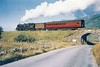 80126 crossing the A85 at Lix Toll - the bridge since demolished to allow road widening 14th August 1962