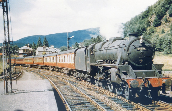 44798 Callander July 1958 Stanier Black 5
