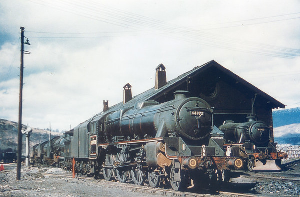 44973 next to 44707 Fort William shed c1960