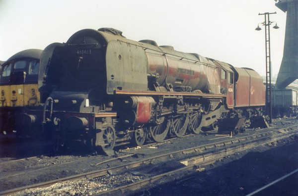 46246 City of Manchester Camden shed 3rd March 1963