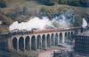 44949 leads std 73069 Lydgate Viaduct Warwickshire Railway Society North Western Steam Tour 18th May 1968