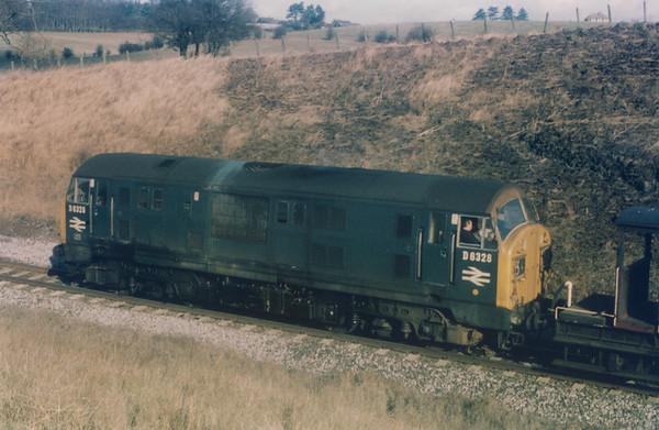 D6328 unknown location North British Type 2 diesel-hydraulic British Rail Class 22