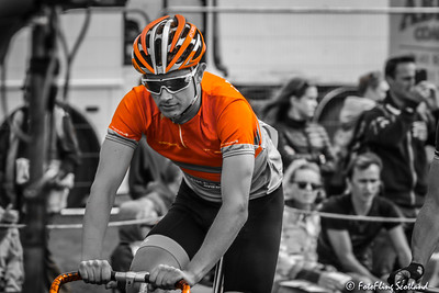 Orange Cyclist