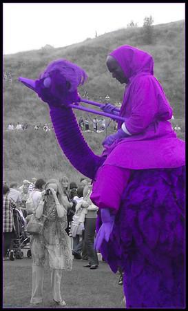 Purple Ostrich