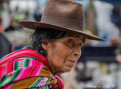 A Quechua woman going to market in Urcos, Peru.