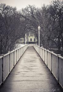 A frigid afternoon walk in Mason City, Iowa.