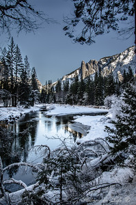 An off the beaten path photo in Yosemite National Park of Mother Nature wrapped in Her winter blanket.