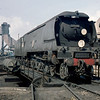 34069 Hawkinge on the turntable at Exmouth Junction in August 1960.