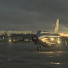 high asa provocative shot of two of the Lightening preservation society's aircraft at twilight