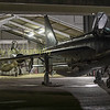 Both of the Lightning preservation societies operational aircraft slumber inside and outside the QA shed