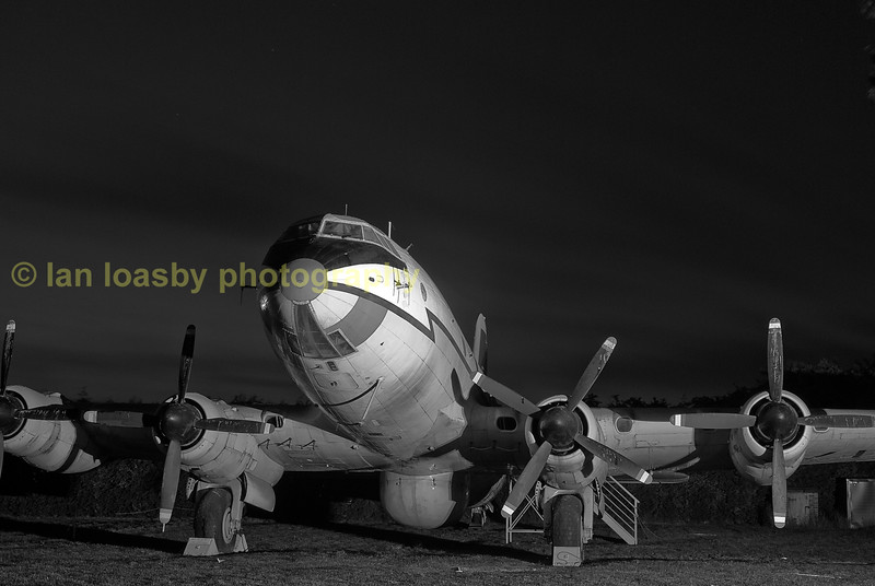 B & W shot of A preserved Handley page 'Hastings ' once of the RAF's transport command