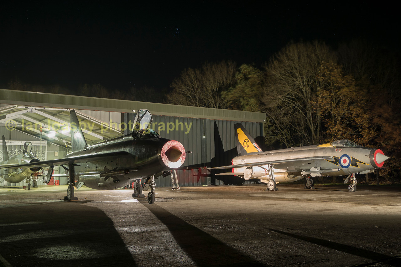 All 3 of the Lightning preservation societies aircraft outside and inside the QA shed