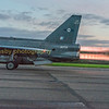 Binbrook station commanders personal aircraft F6 XR728 blasts down Bruntingthorpes runway on a scramble departure
