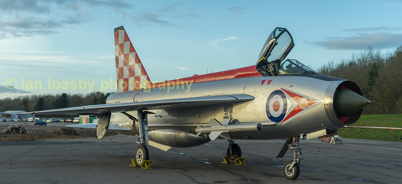 Lightening F-3  XR 713 non operational at present. Port side of the aircraft displays the livery of  111 sqn RAF Leuchars
