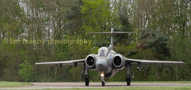 Reminiscent of a cold war airfield in RAF (G) WX544 taxi's out to dispersal