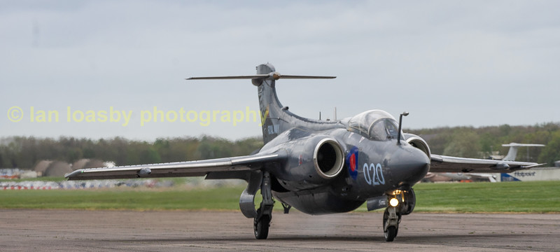 All checks done the lucky back seater gets the ride of his life as XX894 starts to hurtle down the runway