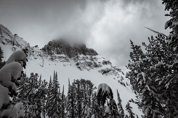 Landscape of Abiathar Couloir in Cooke City MT. For John Colter Project.
