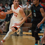 DeSales\' Chase Shellman (23) cut past north Oldham\'s Jonathan Henry (15).