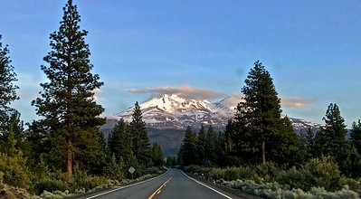 Mount Shasta could be seen from everywhere.