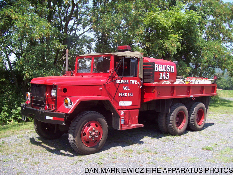 BEAVER TWP. FIRE CO. BRUSH 143 1970 KAISER/BTFC BRUSH TRUCK