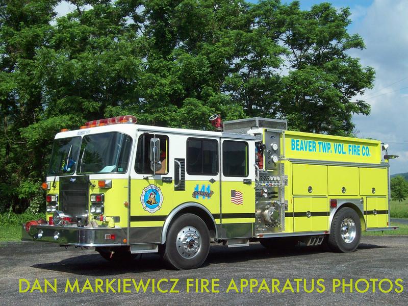BEAVER TWP. FIRE CO. ENGINE 141 1989 E-ONE PUMPER