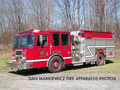 ARISTES FIRE CO, ENGINE 353 2008 KME PUMPER/TANKER